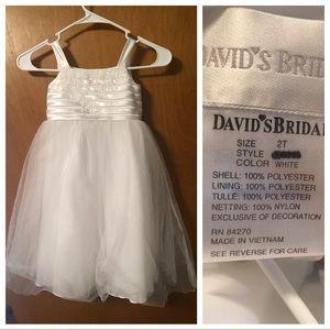 David's Birdal Flower Girl Dress, 2T